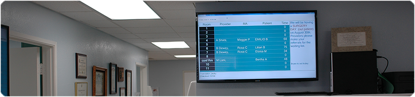 AXEIUM Large Format Patient Room Display Monitor